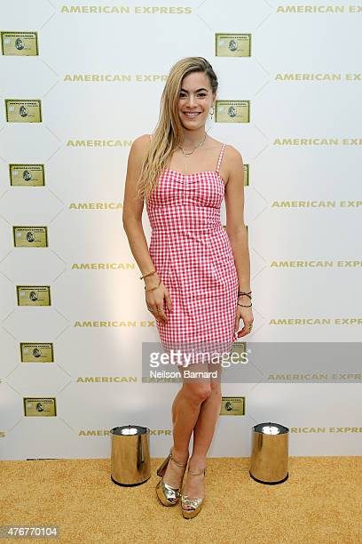 Chelsea Leyland attends the American Express celebration of The Gold Card at Milk Studios on June 11 2015 in New York City