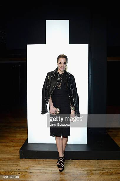Chelsea Leyland attends the Burberry Brit Rhythm Men's Launch in New York at Irving Plaza on October 17 2013 in New York City