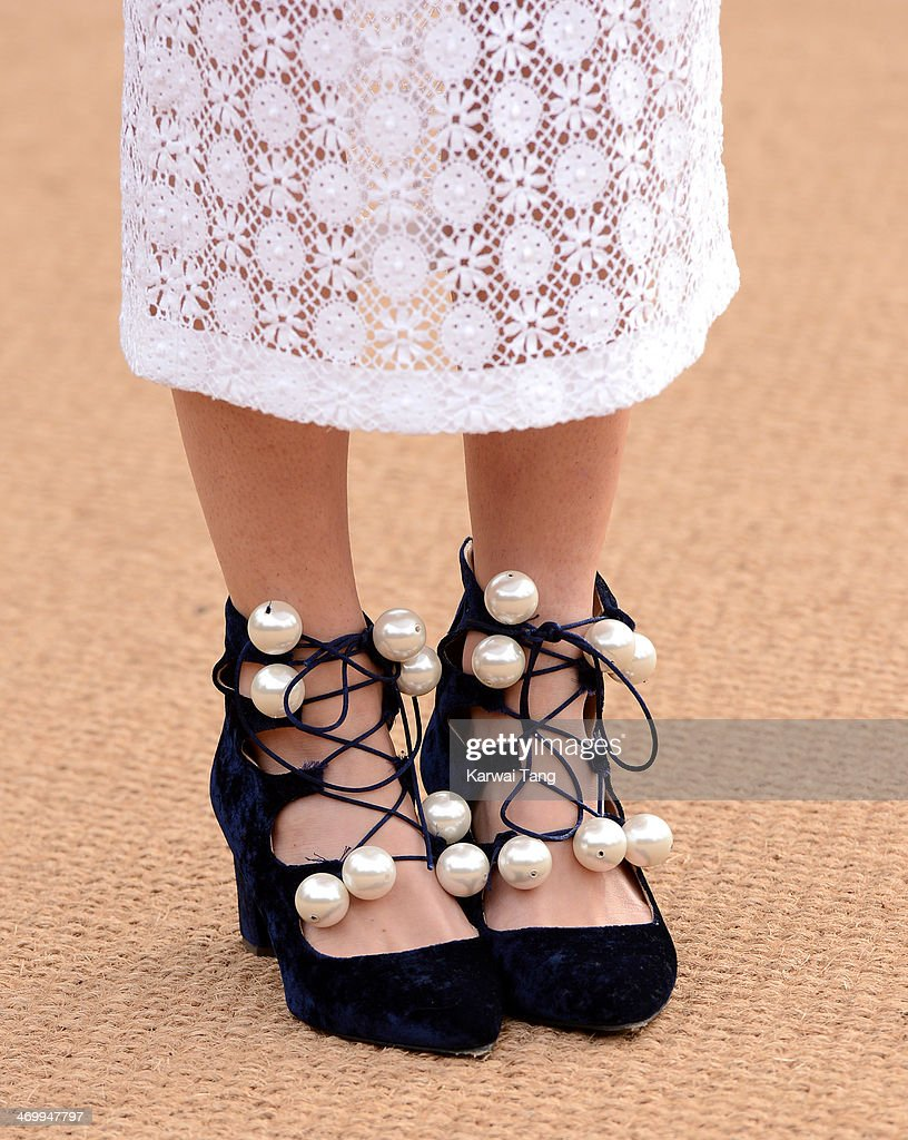 <a gi-track='captionPersonalityLinkClicked' href=/galleries/search?phrase=Chelsea+Leyland&family=editorial&specificpeople=6844887 ng-click='$event.stopPropagation()'>Chelsea Leyland</a> (Shoe detail) attends the Burberry Prorsum show at London Fashion Week AW14 at Kensington Gardens on February 17, 2014 in London, England.