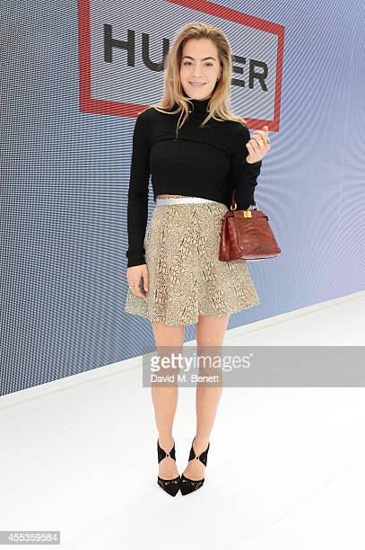 Chelsea Leyland attends the Hunter Original SS 2015 catwalk show at on September 13 2014 in London England