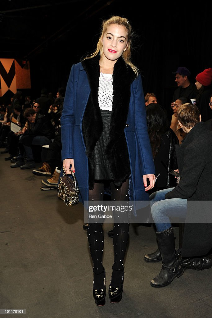 Chelsea Leyland attends the Jen Kao fall 2013 fashion show during Mercedes-Benz Fashion Week at Skylight Studios at Moynihan Station on February 9, 2013 in New York City.
