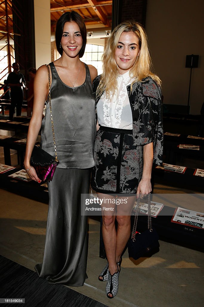 <a gi-track='captionPersonalityLinkClicked' href=/galleries/search?phrase=Chelsea+Leyland&family=editorial&specificpeople=6844887 ng-click='$event.stopPropagation()'>Chelsea Leyland</a> (R) attends the Missoni show as a part of Milan Fashion Week Womenswear Spring/Summer 2014 on September 22, 2013 in Milan, Italy.