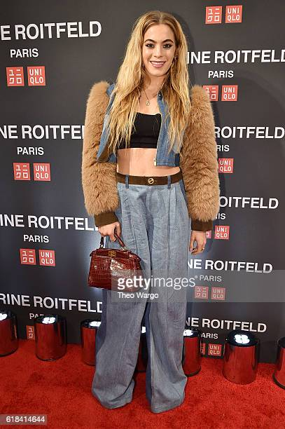 Chelsea Leyland attends the UNIQLO Fall/Winter 2016 Carine Roitfeld collection launch at UNIQLO on October 26 2016 in New York City