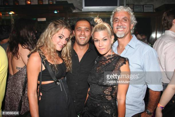 Chelsea Leyland Ben Pundole Jenne Lombardo and Ric Pipino attend DeLeón Tequila Presents The Nur Khan Sessions with The Dead Weather at Don Hill's on...