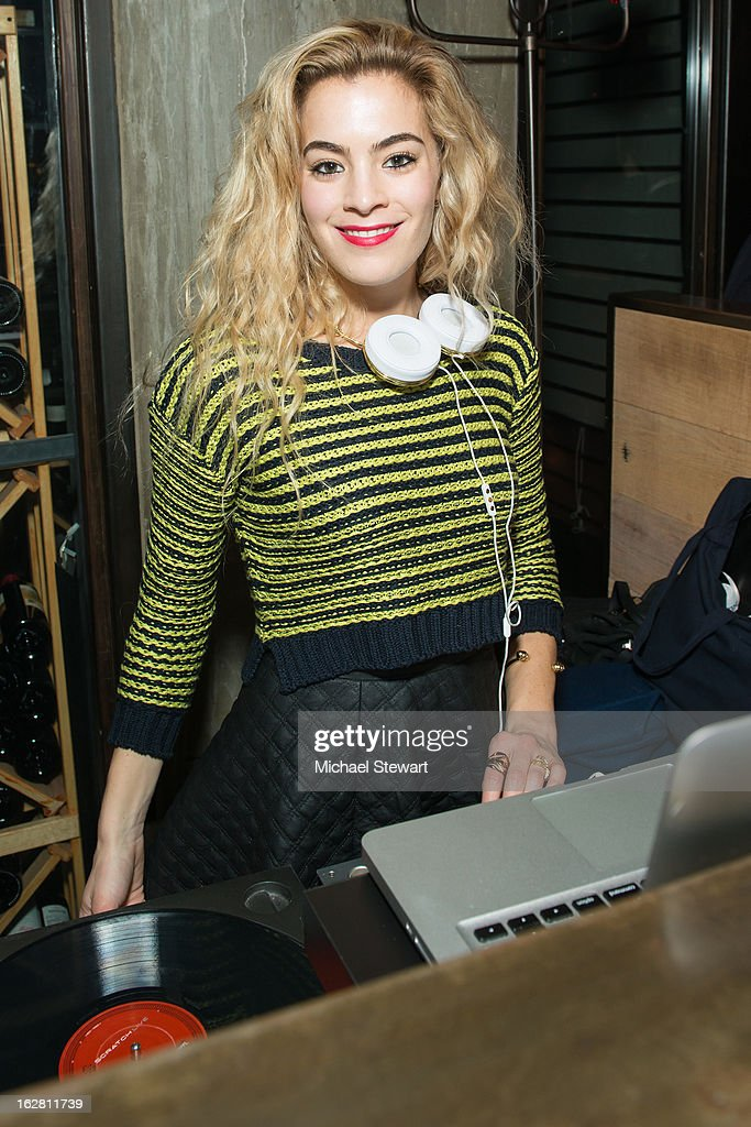 DJ Chelsea Leyland performs during The ONE Group's Ristorante Asellina celebrates two years on Park Avenue South NYC at Ristorante Asselina on February 27, 2013 in New York City.