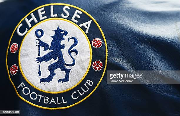 Chelsea logo is seen prior to the Barclays Premier League match between Chelsea and Swansea City at Stamford Bridge on September 13 2014 in London...