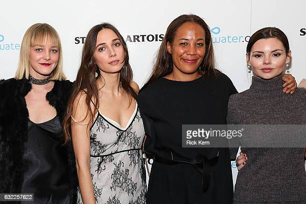 Chelsea Lopez Rebecca Dayan Margaret 'Maggie' Betts and Eline Powell at the 'Novitiate' party in the Stella Artois Filmmaker Lounge during the...