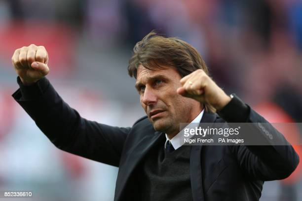 Chelsea manager Antonio Conte after the Premier League match at the bet365 Stadium