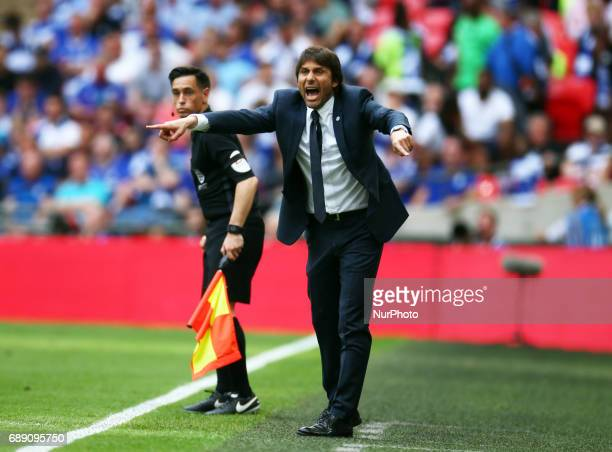 Chelsea manager Antonio Conte during The Emirates FA Cup Final between Arsenal against Chelsea at Wembley Stadium on May 27 2017 England