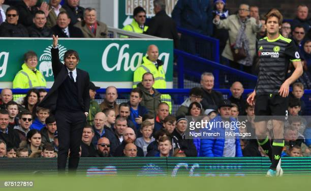 Chelsea manager Antonio Conte during the Premier League match at Goodison Park Liverpool