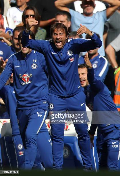 Chelsea manager Antonio Conte during the Premier League match at Stamford Bridge London