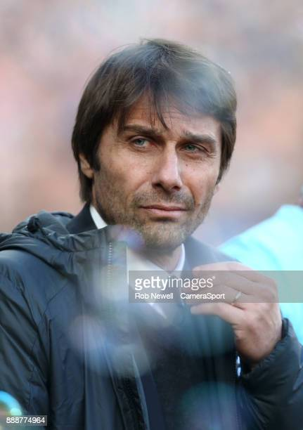 Chelsea manager Antonio Conte during the Premier League match between West Ham United and Chelsea at London Stadium on December 9 2017 in London...