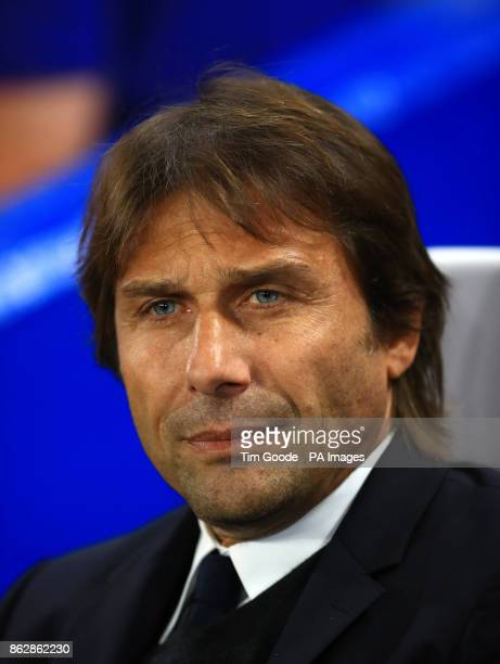 Chelsea manager Antonio Conte during the UEFA Champions League Group C match at Stamford Bridge London