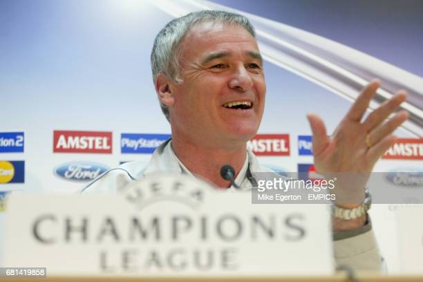 Chelsea manager Claudio Ranieri answers questions for the media