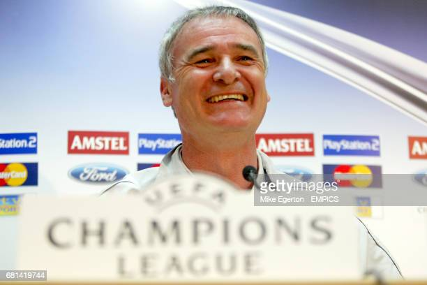 Chelsea manager Claudio Ranieri is all smiles during the press conference