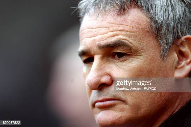 Chelsea manager Claudio Ranieri watches the match against Newcastle