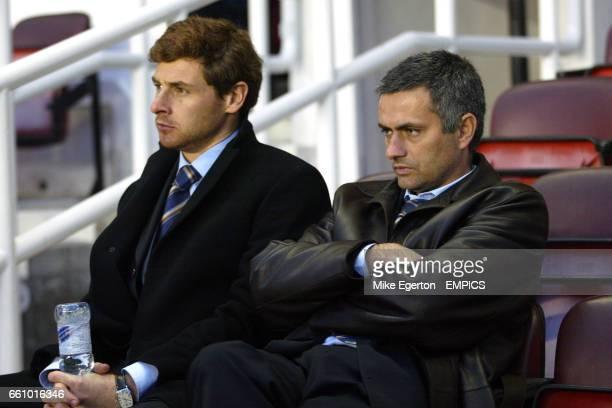 Chelsea manager Jose Mourinho and Andre Villas Boas