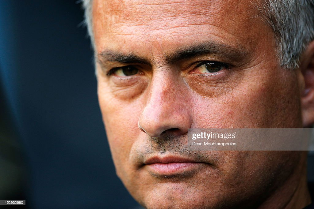 Chelsea Manager, Jose Mourinho looks on during the pre season friendly match between Vitesse Arnhem and Chelsea at the Gelredome Stadium on July 30, 2014 in Arnhem, Netherlands.