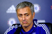 Chelsea manager Jose Mourinho talks to the media during a press conference at Chelsea Training Ground on November 6 2015 in Cobham England