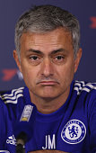 Chelsea manager Jose Mourinho talks to the media during a press conference at Chelsea Training Ground on December 11 2015 in Cobham England