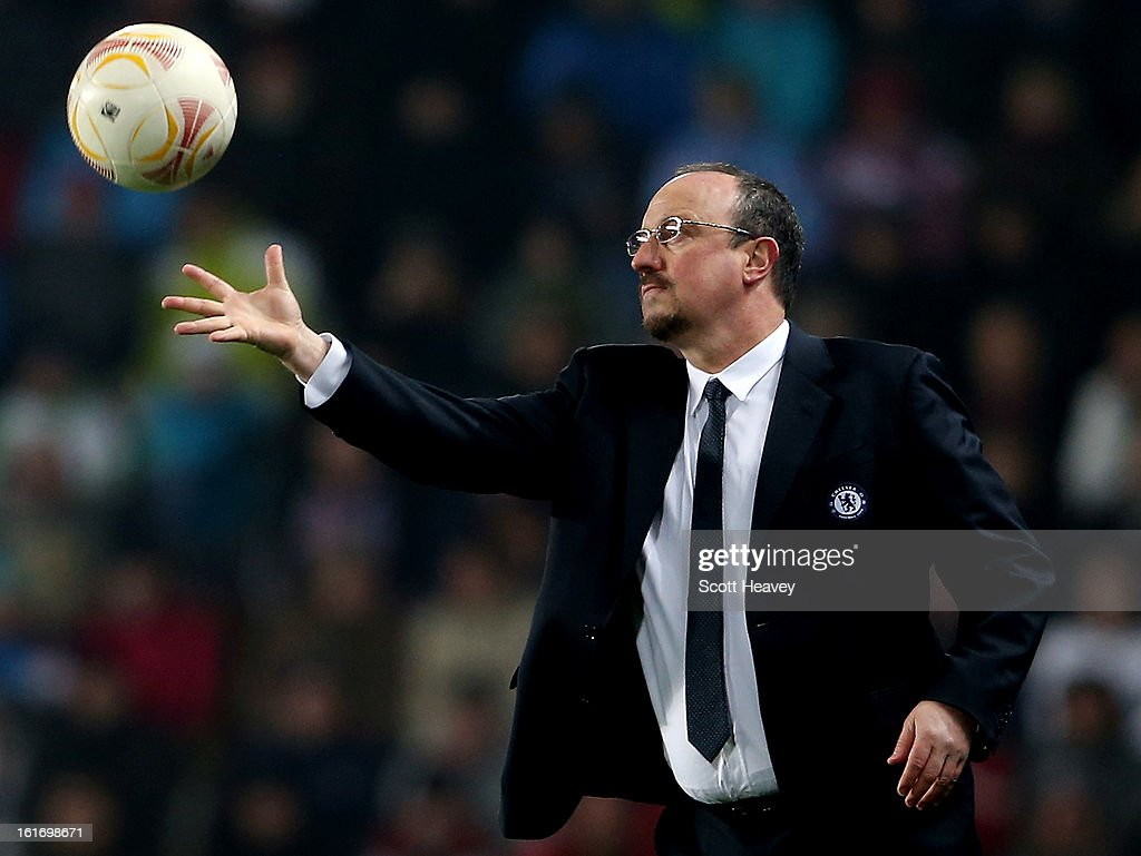 Chelsea manager Rafael Benitez during the UEFA Europa League match between AC Sparta Praha and Chelsea on February 14, 2013 in Prague, Czech Republic.