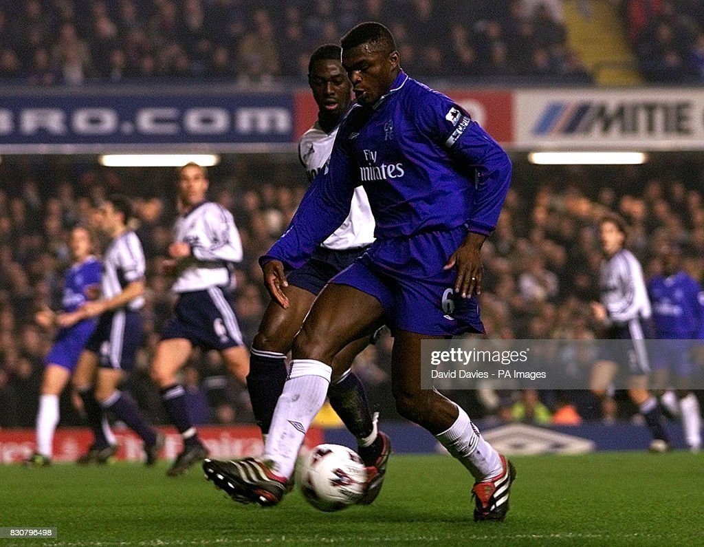 Chelsea Marcel Desailly in action in the Worthington Cup Semi