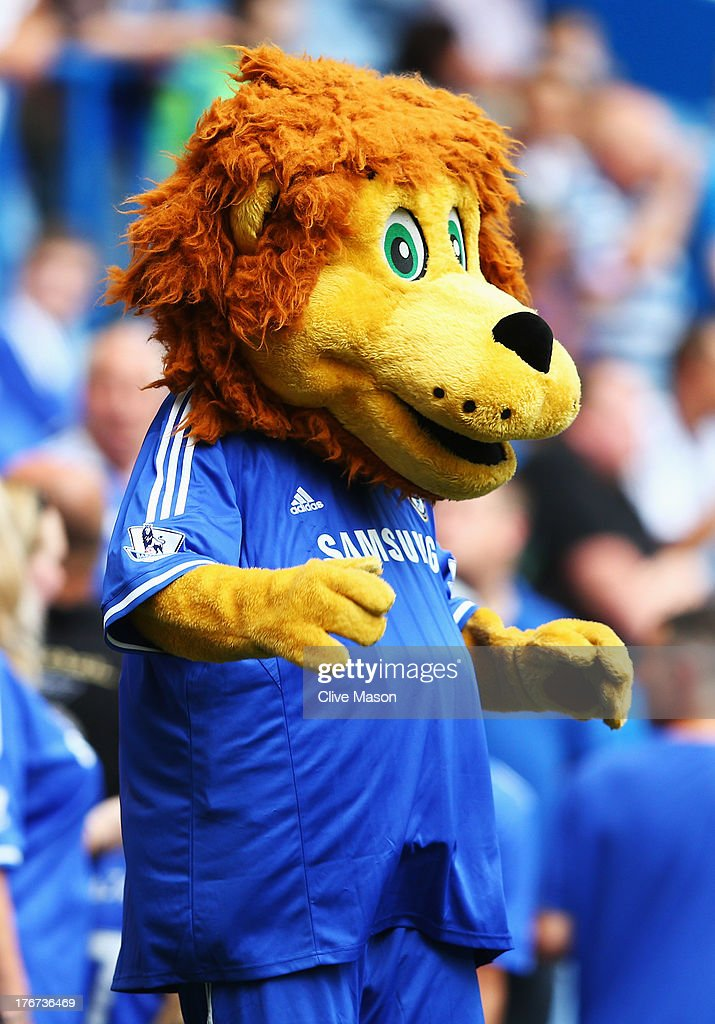 Chelsea mascot Stamford the Lion walks around the pitch prior to the Barclays Premier League match between Chelsea and Hull City at Stamford Bridge on August 18, 2013 in London, England.