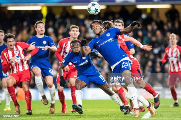 Chelsea Michy Batshuayi Chelsea Victor Moses Atletico Madrid Filipe Luís during the UEFA Champions League group C match between Chelsea FC and...