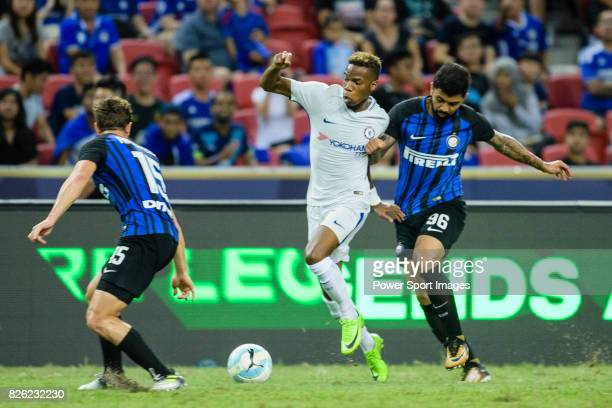 Chelsea Midfielder Charly Musonda battles for the ball with FC Internazionale Forward Gabriel Barbosa during the International Champions Cup 2017...