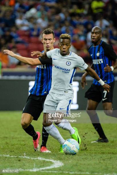Chelsea Midfielder Charly Musonda competes for the ball with FC Internazionale Forward Ivan Perisic during the International Champions Cup 2017 match...