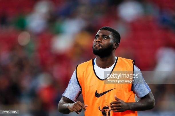 Chelsea Midfielder Jeremie Boga warming up during the International Champions Cup match between Chelsea FC and FC Bayern Munich at National Stadium...