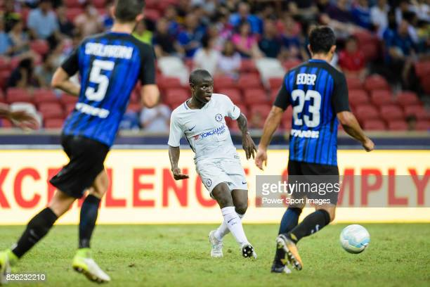 Chelsea Midfielder N'Golo Kante in action during the International Champions Cup 2017 match between FC Internazionale and Chelsea FC on July 29 2017...