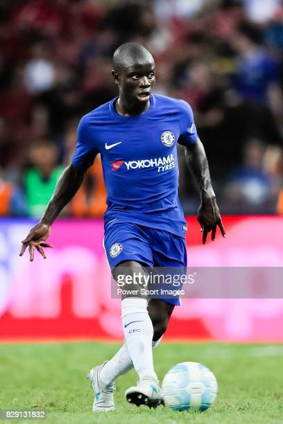Chelsea Midfielder N'Golo Kante in action during the International Champions Cup match between Chelsea FC and FC Bayern Munich at National Stadium on...