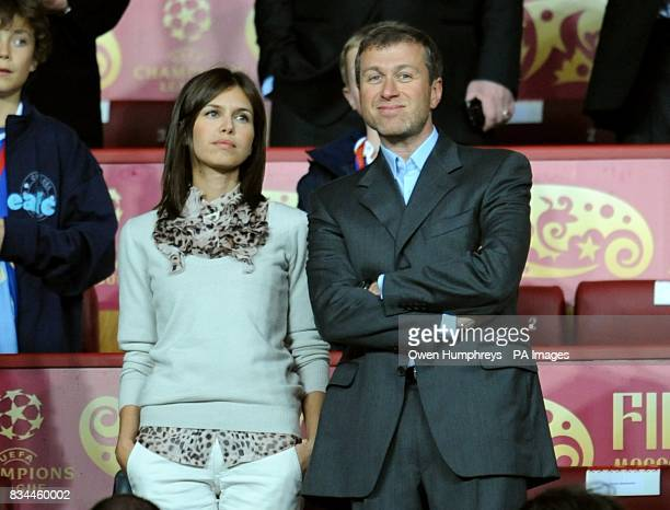 Chelsea owner Roman Abramovich and girlfriend Daria Zhukova in the stands prior to kick off