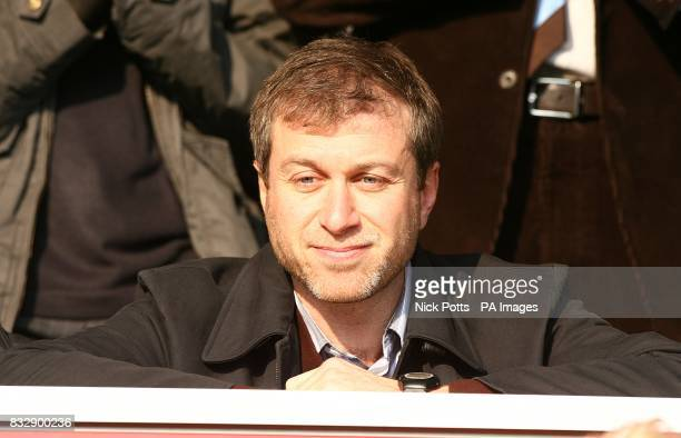 Chelsea owner Roman Abramovich in the stands during the match