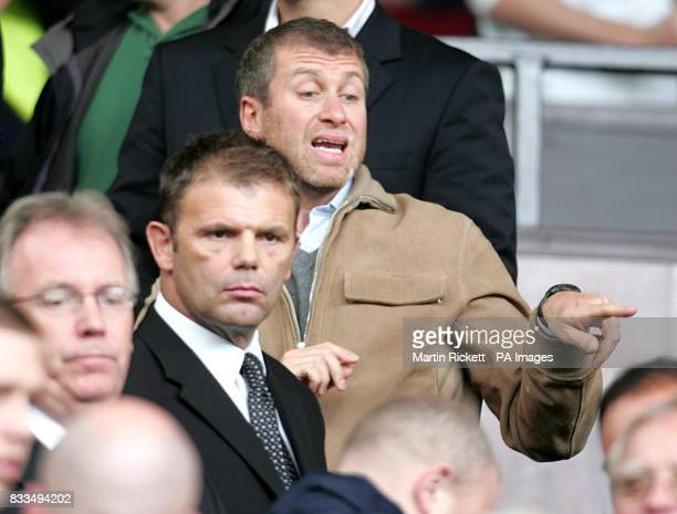 Chelsea owner Roman Abramovich in the stands