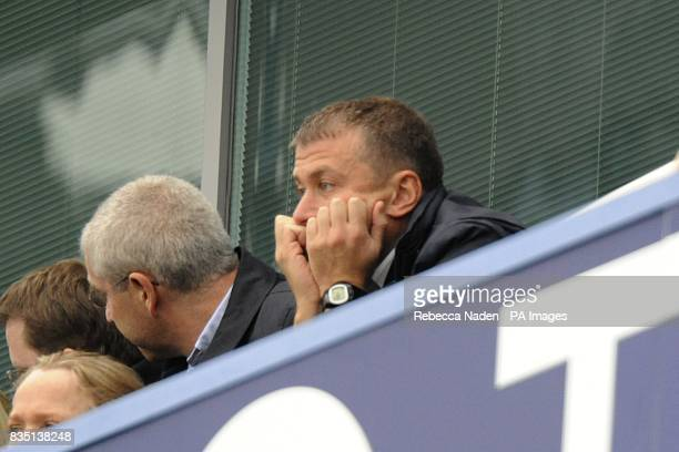 Chelsea owner Roman Abramovich in the stands prior to kick off
