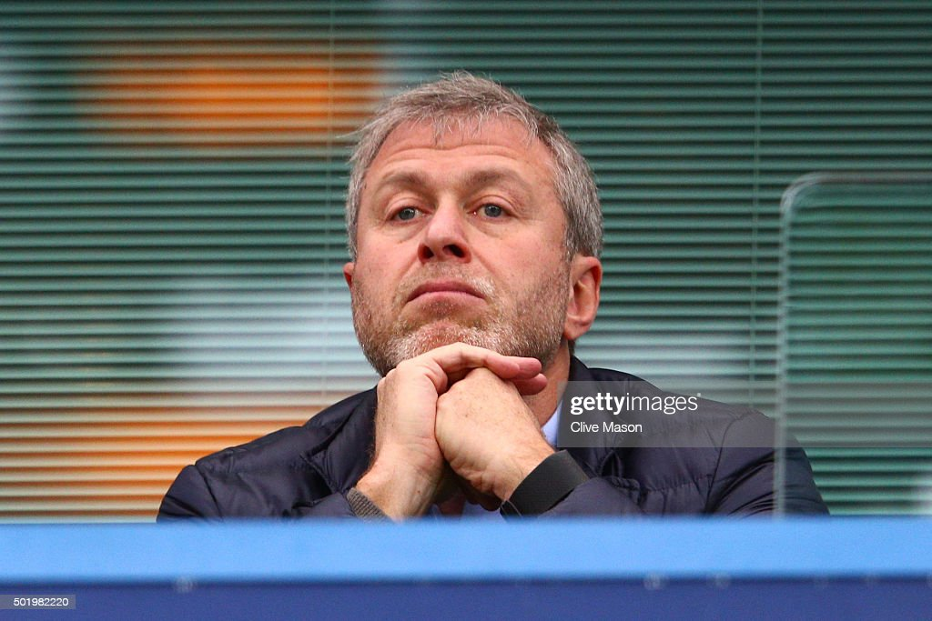 Chelsea owner <a gi-track='captionPersonalityLinkClicked' href=/galleries/search?phrase=Roman+Abramovich&family=editorial&specificpeople=208953 ng-click='$event.stopPropagation()'>Roman Abramovich</a> is seen on the stand during the Barclays Premier League match between Chelsea and Sunderland at Stamford Bridge on December 19, 2015 in London, England.