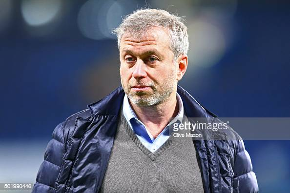 Chelsea owner Roman Abramovich looks on after their 31 win in the Barclays Premier League match between Chelsea and Sunderland at Stamford Bridge on...