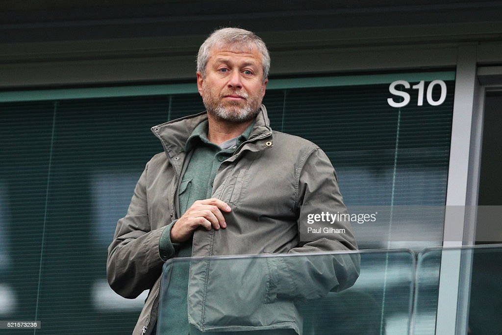 Chelsea owner <a gi-track='captionPersonalityLinkClicked' href=/galleries/search?phrase=Roman+Abramovich&family=editorial&specificpeople=208953 ng-click='$event.stopPropagation()'>Roman Abramovich</a> looks on from the stands during the Barclays Premier League match between Chelsea and Manchester City at Stamford Bridge on April 16, 2016 in London, England.