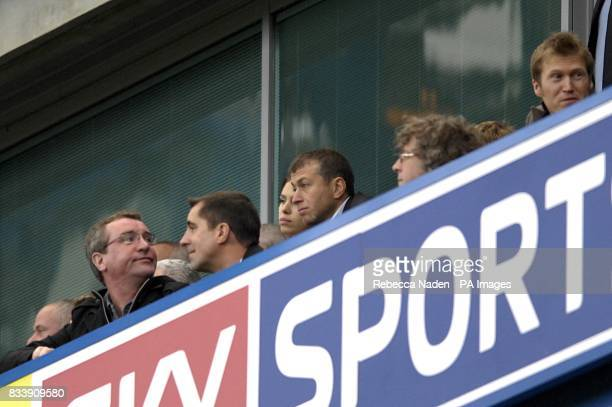 Chelsea owner Roman Abramovich watches the action from the stands