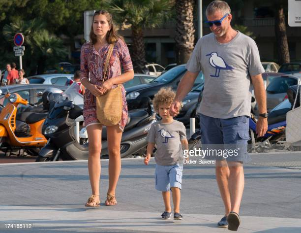 Chelsea owner Roman Abramovich with his girlfriend Daria Zhukova and his son attend the Woody Allen concert at Anthea Antipolis theater of Antibes on...