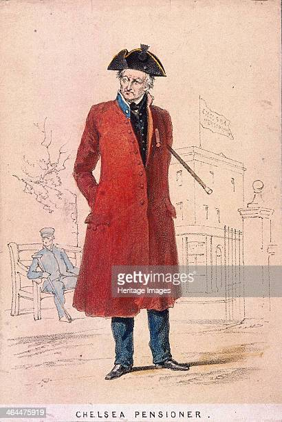 A Chelsea pensioner 1855 An old man dressed in a Chelsea pensioner uniform