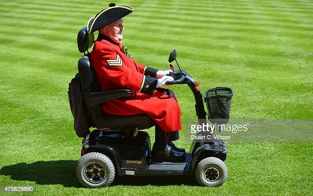 Chelsea Pensioners attend the Founder's Day Parade at Royal Hospital Chelsea on June 4 2015 in London England