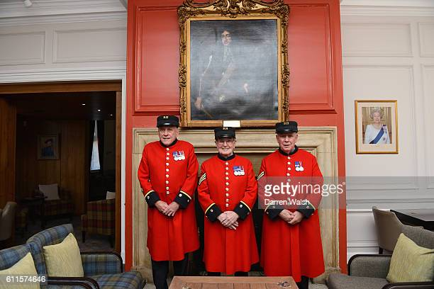 Chelsea Pensioners during a Chelsea magazine feature at the Royal Hospital on 28th April 2015 in London England