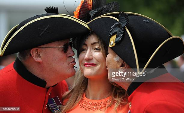 Chelsea Pensioners join Racegoers during Day 4 of Royal Ascot at Ascot Racecourse on June 20 2014 in Ascot England