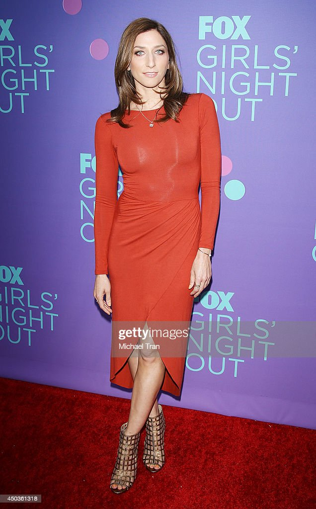 <a gi-track='captionPersonalityLinkClicked' href=/galleries/search?phrase=Chelsea+Peretti&family=editorial&specificpeople=7037211 ng-click='$event.stopPropagation()'>Chelsea Peretti</a> arrives at Fox's 'Girls Night Out' held at Leonard H. Goldenson Theatre on June 9, 2014 in North Hollywood, California.