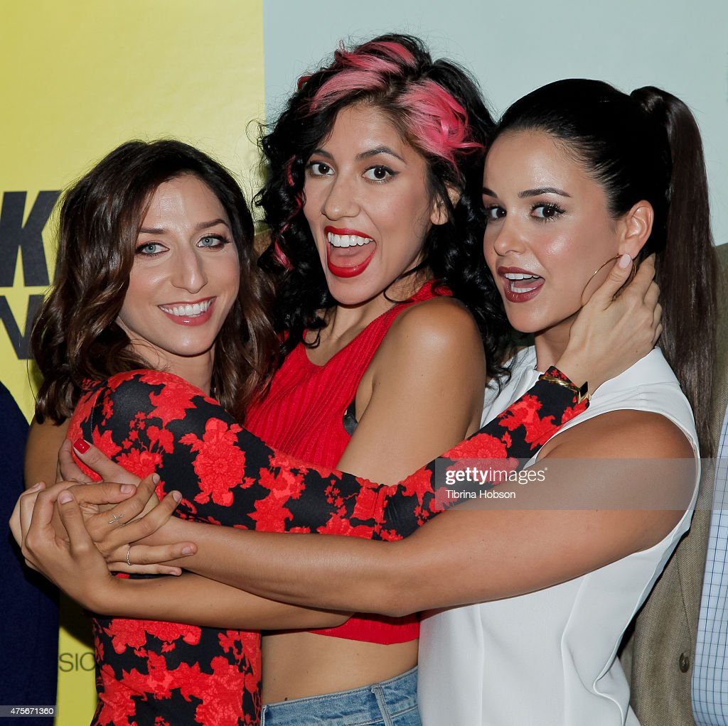Chelsea Peretti Stephanie Beatriz and Melissa Fumero attend the 'Brooklyn NineNine' FYC panelat at UCB Sunset Theater on June 2 2015 in Los Angeles...