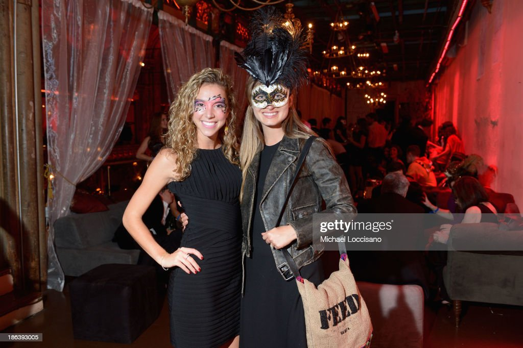 Chelsea Peters and UNICEF Committee member Lauren Bush Lauren attend the 4th Annual UNICEF Masquerade Ball at Angel Orensanz Foundation on October 30, 2013 in New York City.