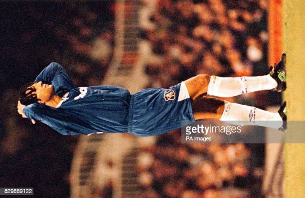 Chelsea playermanager Ruud Gullit was left shaking his head in disbelief after his team lost 30 against Sunderland at Roker Park today Photo by RUI...